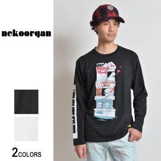 【限定受注生産】猫オルガン「twilight market」ロングTシャツ