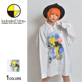 フラワーペイントビッグシャツ(男女兼用)