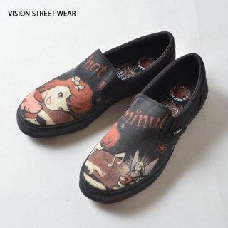 VISION STREET WEAR(ヴィジョン ストリート ウェア)バンドパロディ東京裏側カスタムスリッポン(エンジェル)