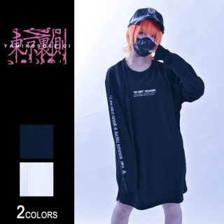 東京裏側(東京裏側)袖ロゴプリントサーマルロングTシャツ(男女兼用)