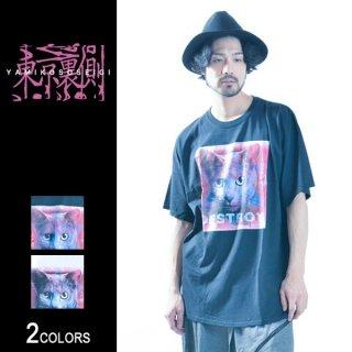 【東京裏側】HEXAGRAM KITTY ビッグTシャツ(男女兼用)
