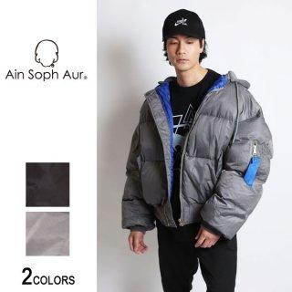 【AinSophAur】フード付きダウンMA-1(男女兼用)