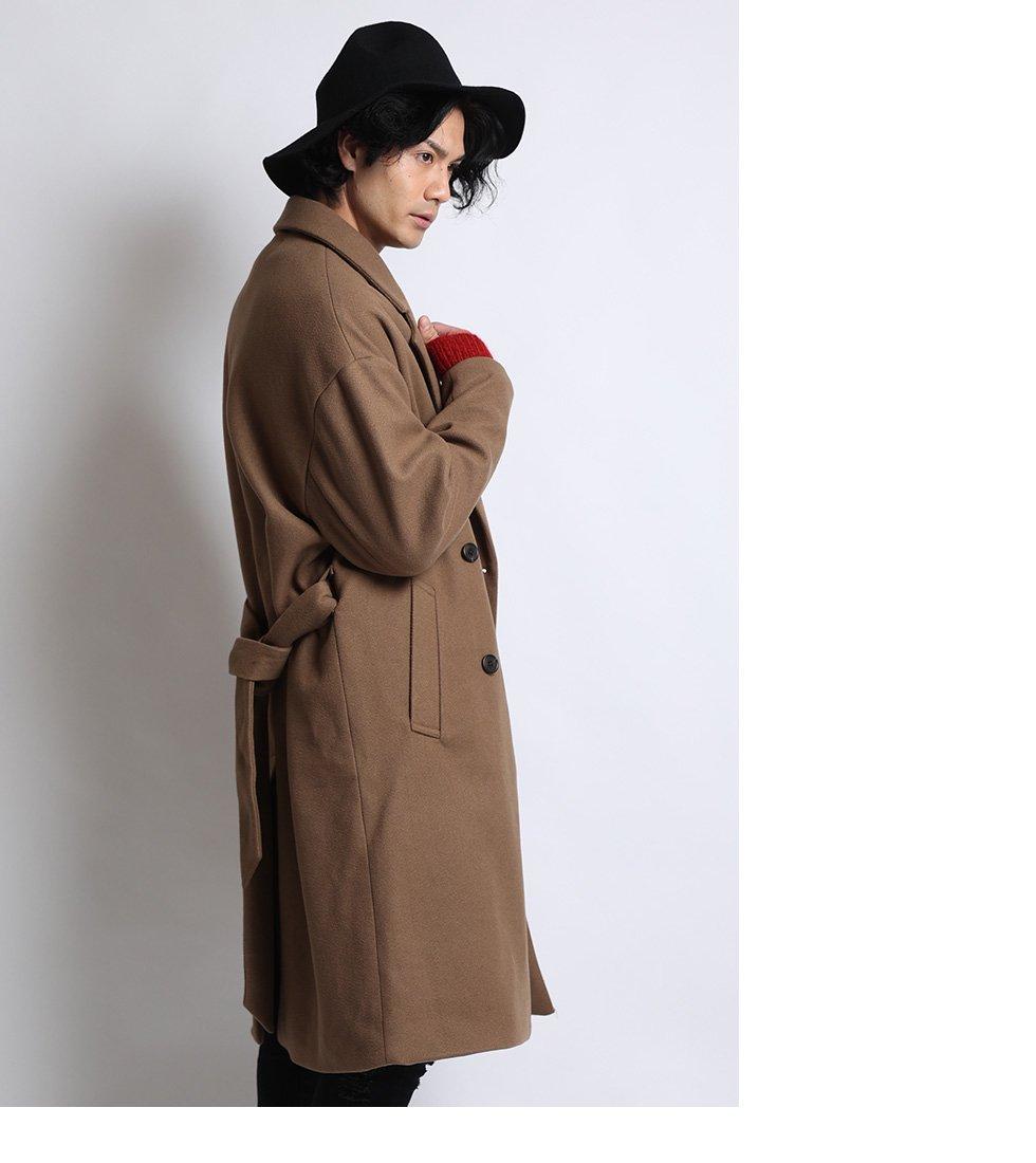 【backside of tokyo】ウーリーテックオーバーサイズラップコート(男女兼用)