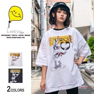 GU×gang BBビッグTシャツ(男女兼用)