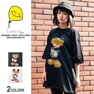 GU×MK モノグラムビッグTシャツ(男女兼用)