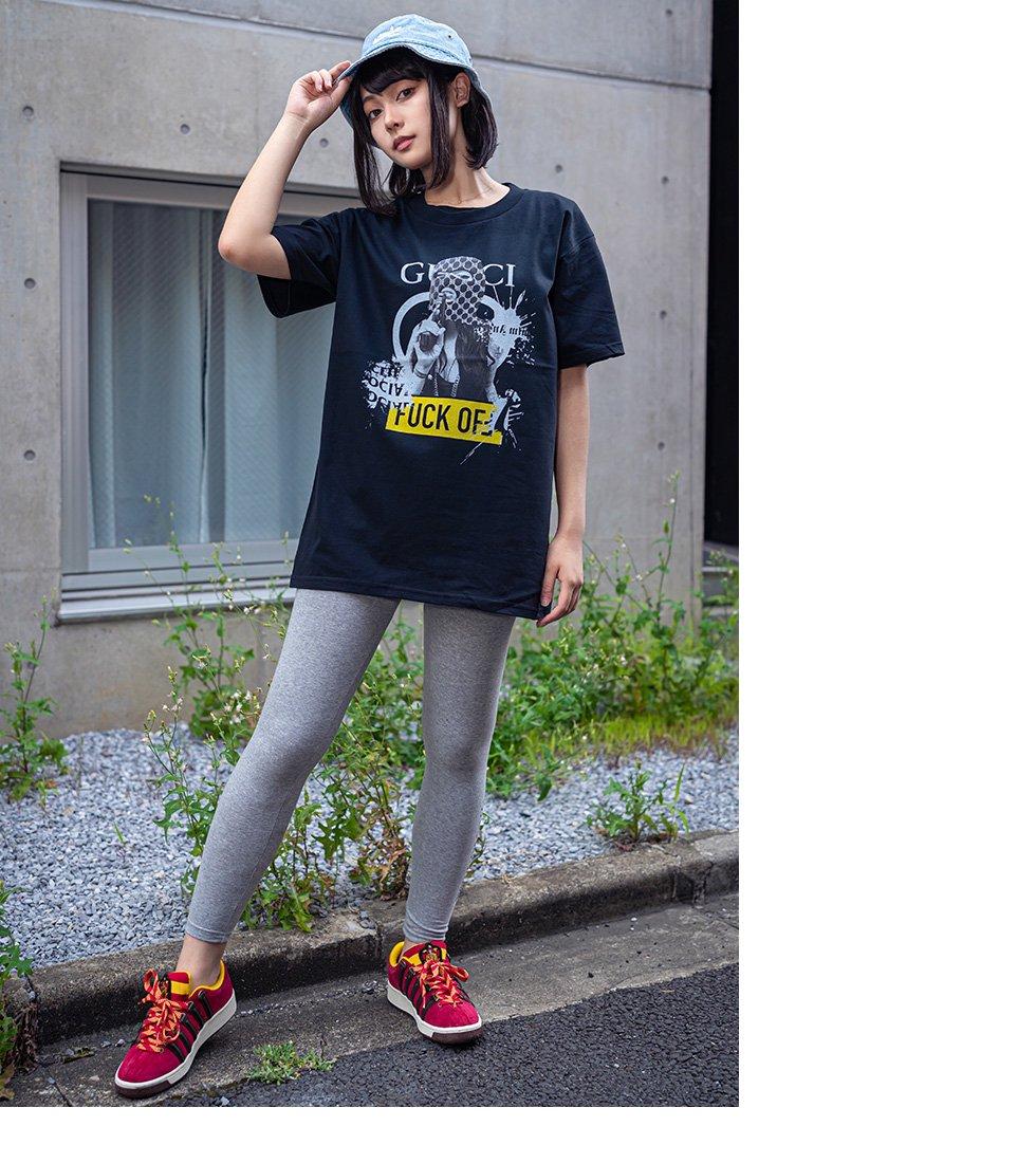 FU×GU robbery ガールフォトTシャツ(男女兼用)
