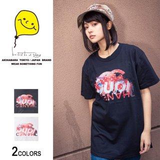 SU×CH スプラッターガールフォトTシャツ(男女兼用)