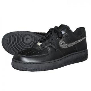 NIKE AirForce1 LOW Custom Swarovski Plain(B-BD)