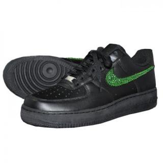 NIKE AirForce1 LOW Custom Swarovski Plain(B-PD)
