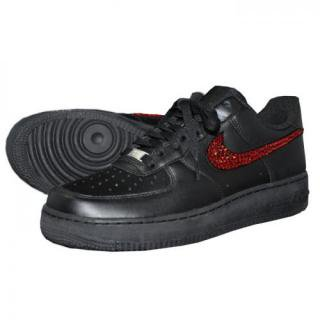NIKE AirForce1 LOW Custom Swarovski Plain(B-S)