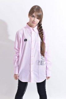 スピード グラファー10th記念コラボ 「Nikon F2」フェイクデザインシャツ(ピンク)(男女兼用)