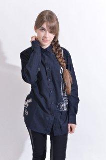 スピード グラファー10th記念コラボ 「Nikon F2」フェイクデザインシャツ(ブラック)(男女兼用)