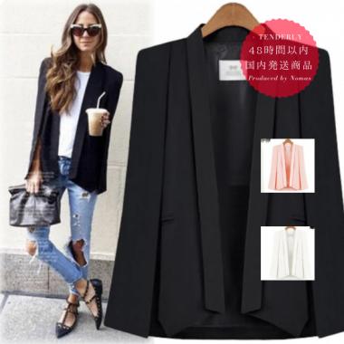 【即納】肩掛けデザインのきれいめマントジャケット 3色