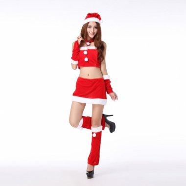 クリスマス パーティーのコスプレ衣装に セクシーなセットアップ サンタクロース