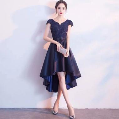 人気の海外デザイン シンプルエレガントなフィッシュテールのロングドレス ワンピース