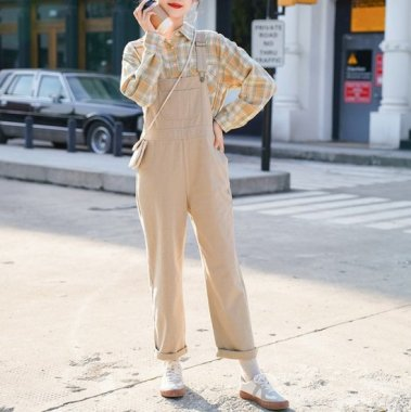 オトナ女子のラフスタイルに ナチュラルな雰囲気がかわいいサロペットパンツ オーバーオール