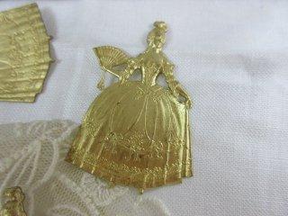 真鍮製のフランス貴婦人