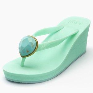 Birthday beach sandal Wedge heel / December / Turquoise / paleblue(12月ターコイズ・ペールブルー)