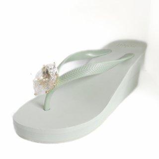 Birthday beach sandal Wedge heel / April / Diamond / Khaki(4月ダイヤモンド・カーキ)