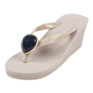 Birthday beach sandal Wedge heel / November / Blue Topaz / Beige(11月ブルートパーズ・ベージュ)