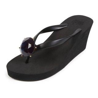 Birthday beach sandal Wedge heel / November / Blue Topaz / Black(11月ブルートパーズ・ブラック)