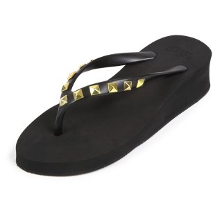 Studs square sandal Low heel /  Black(スタッズ・ブラック)