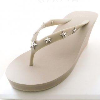 Studs star sandal Wedge heel /  Beige(スタッズ・ベージュ)