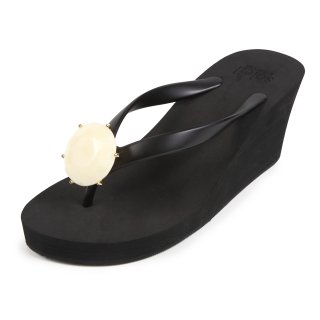 Birthday beach sandal Wedge heel / June / Pearl / Black(6月パール・ブラック)