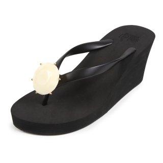 Birthday beach sandal Wedge heel / June / Pearl / Black(6月パール・ブラック)