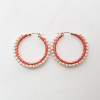 Silk harmony pierce/peach(M)