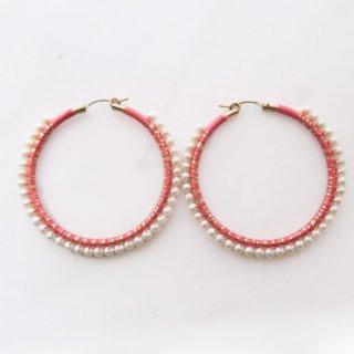Silk harmony pierce/peach(L)