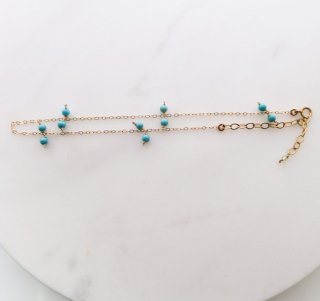 stone anklet/turquoise