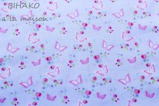 USAコットン Garden Butterfly blue