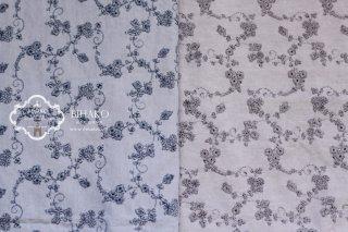 アンティーク風 小花刺繍 全2色