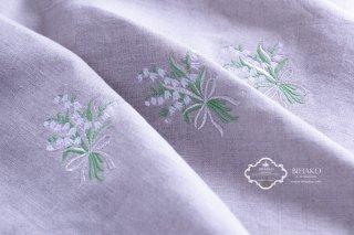 【新入荷】すずらん刺繍 リネン生地