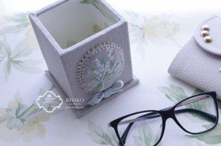 桐で作るスタンド すずらん刺繍 レシピ付きキット☆母の日