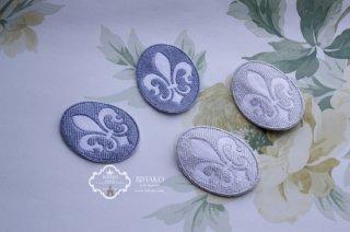 ゆり 紋章 エレガンス Embroidery フレーム 全2色