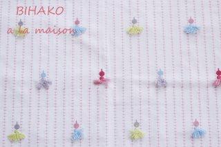 【在庫限り】イギリス製 pompomタッセル刺繍