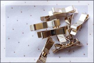 フランス製 装飾パーツ/取手 ゴールドリボン
