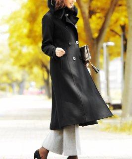フォックスファーWブレストロングウールコート「K609」