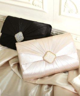 タックダイヤモンドモチーフパーティーバッグ「BA664」/結婚式・披露宴・二次会・発表会・謝恩会・お呼ばれなどフォーマル対応