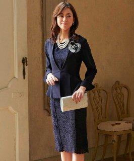 レーシーワンピースセットアップスーツ「SU651」/セレモニー・入学式(入園式)・卒業式(卒園式)・七五三-ママ対応