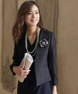 ツイードジャケット&カシュクールワンピース「SU688」/入学式(入園式)・卒業式(卒園式)・七五三-ママ対応
