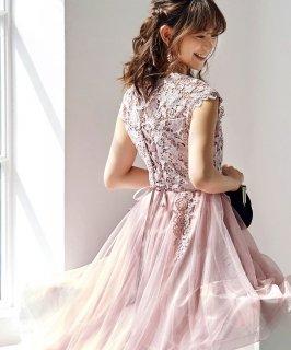 フィッシュテイルチュール&レースドレス「U685」/結婚式・披露宴・二次会などお呼ばれ対応フォーマルパーティードレス