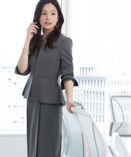 ぺプラムジャケット「SU706」/ビジネス・オフィスシーン対応