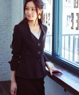 ペプラムスーツセットアップ「CSU833」/ビジネス・キャリア・オフィスシーン対応