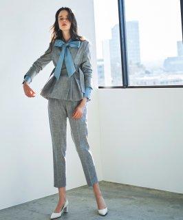 サイドベルトジャケットパンツスーツ「CSU975」/学校行事・通勤・ビジネス・オフィスシーン対応