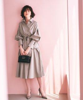 バルーンスリーブシャツ&フレアスカートセットアップ「CU996」/ ビジネス・オフィスシーン対応