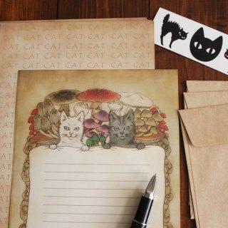 ●猫とネコの絵本シリーズ2●猫とネコのお昼寝レターセット