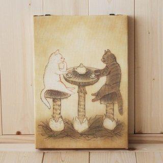 複製画●猫とネコの絵本シリーズ●猫とネコのティータイム
